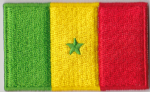 Senegal Embroidered Flag Patch, style 04
